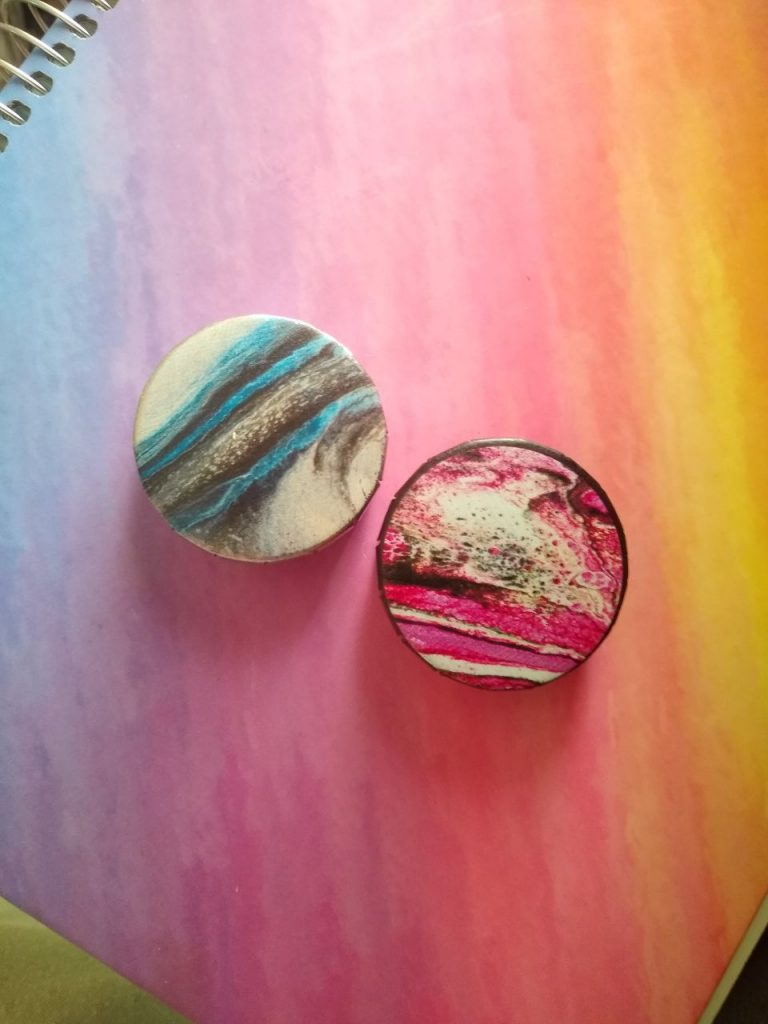 Pour Paint Inspired Snap-Lid Tins