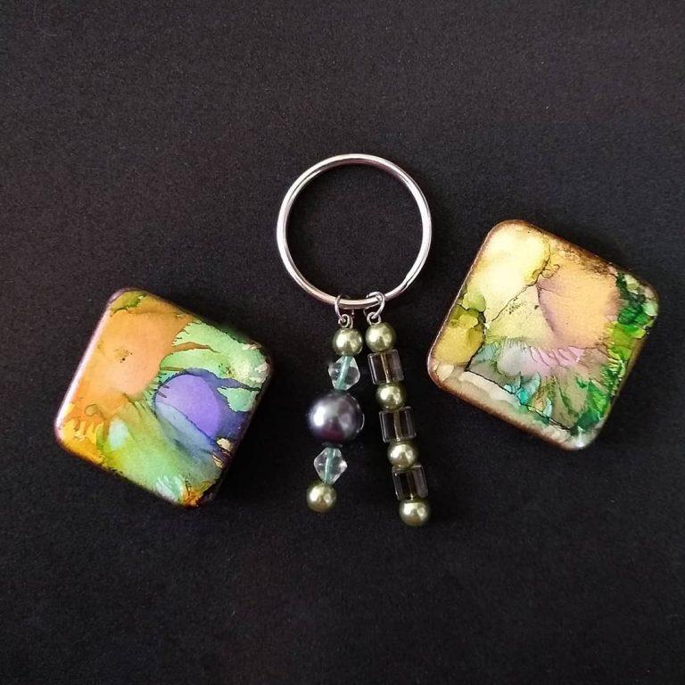Tile Magnets & Keychain Bundle