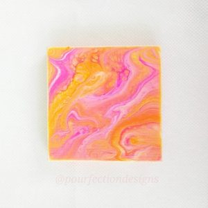 Mini Stretched Pour Paint Canvas Magnet