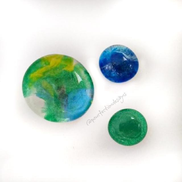 Blue/Green Ocean Glass Gem Magnets