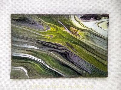 4x6 Flat Canvas Original Pour Painting
