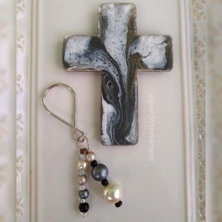 Wood Cross Magnet & Keychain