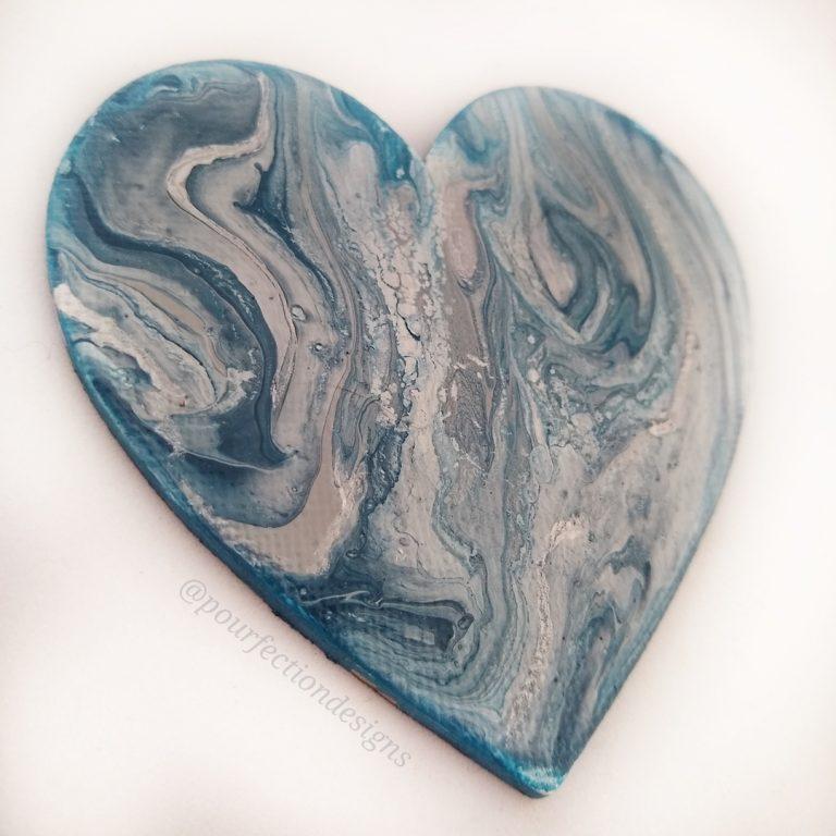 Acrylic Pour Paint Canvas Magnet