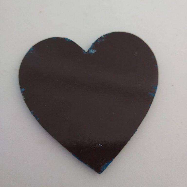 Acrylic Pour Paint Canvas Magnet - Back