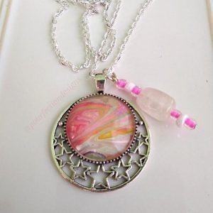 Rosy Pour Paint Skin Necklace