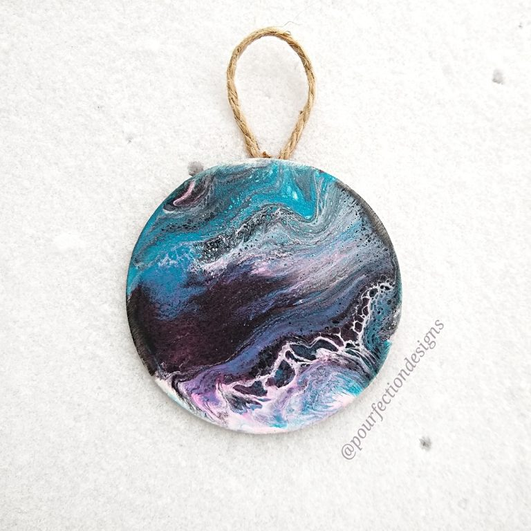 Purple and Blue Round Ornament