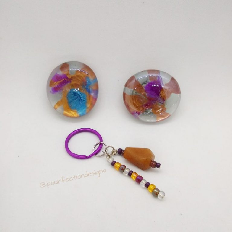 Handmade Aventurine Keychain, Gem Magnets