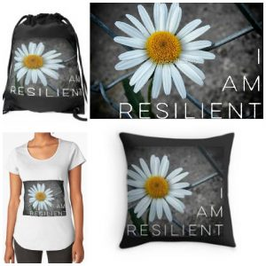 Daisy - I Am Resilient RedBubble