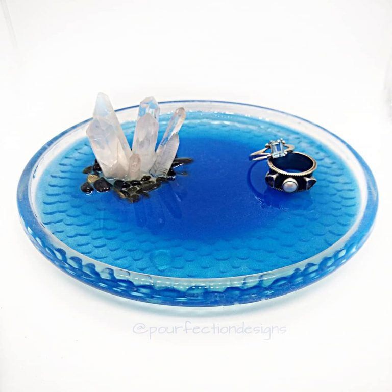 Glass Crystal Resin Trinket Tray