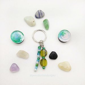 Handmade Keychain, Gem Magnets, & Polished Crystal Tumbles