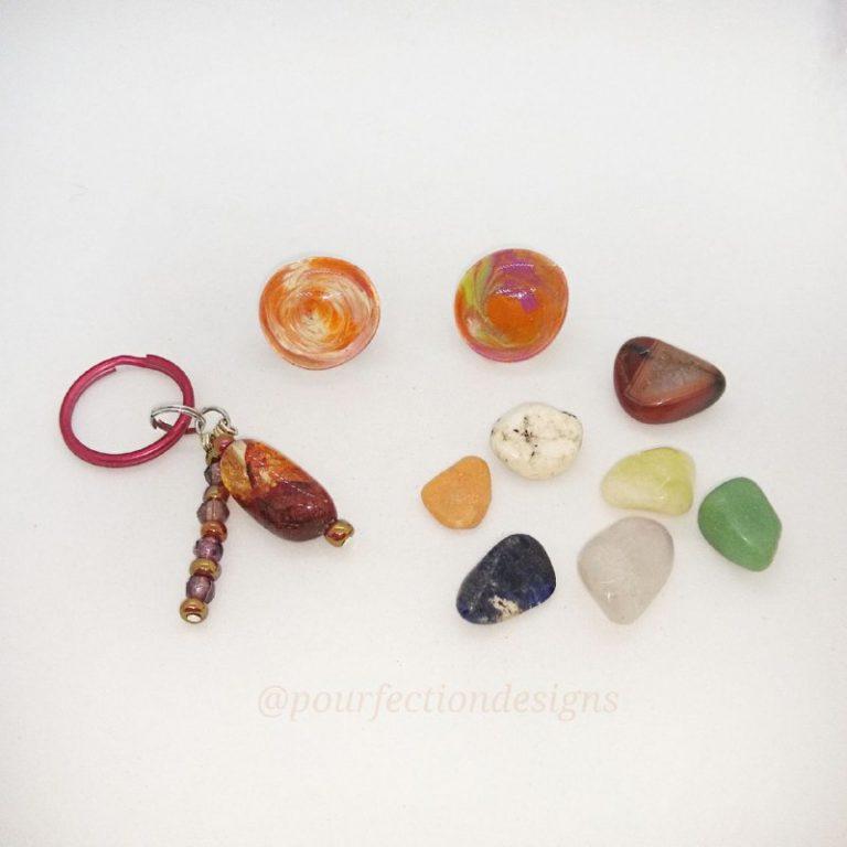 Keychain, Gem Magnets  & 7 Tumbles