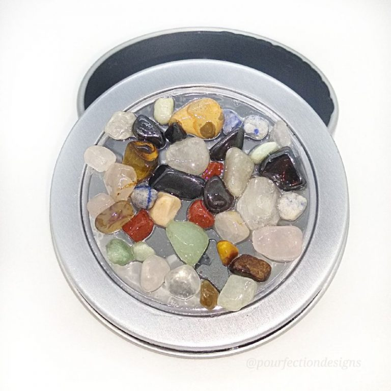 Magnetic Tin Crystal Rock Lid