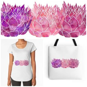 Triple Lotus RedBubble