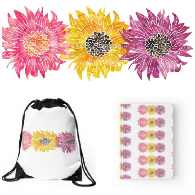 Triple Sunflower RedBubble
