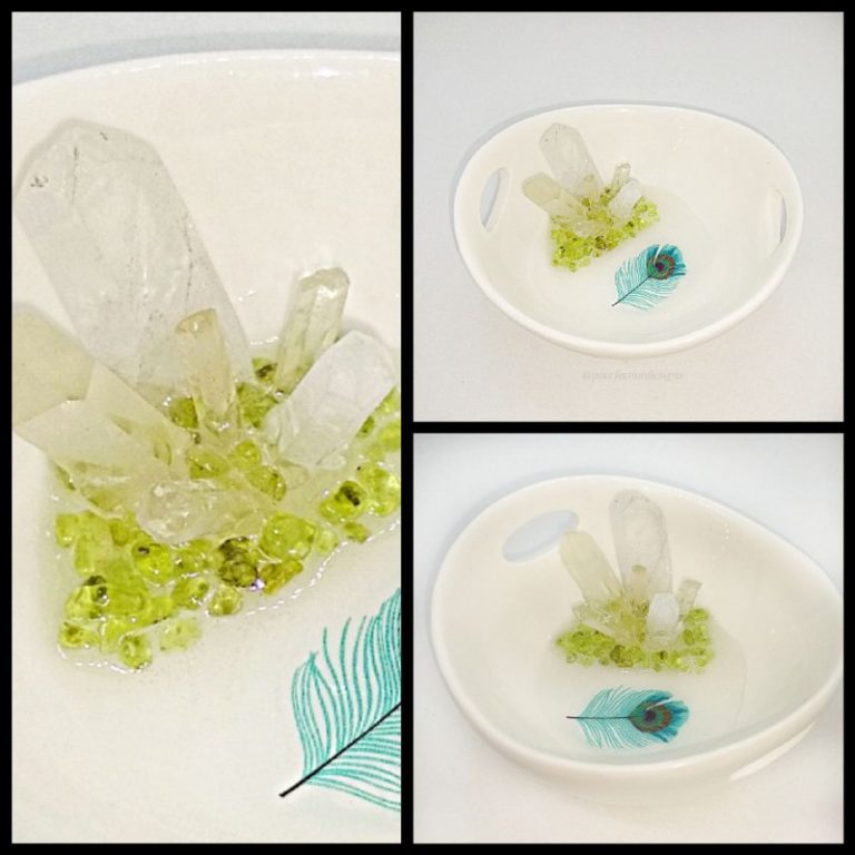 White Ceramic Trinket Bowl