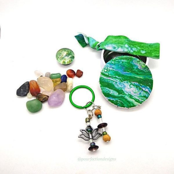 Crystals, Travel Tin, Hair Tie, Keychain and Magnet