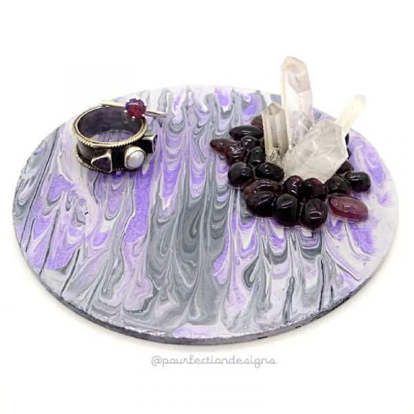 Pour Paint Trinket Tray Purple Apr 28