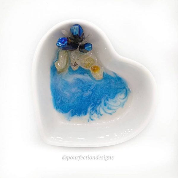 Beachy Ceramic Heart Trinket Dish
