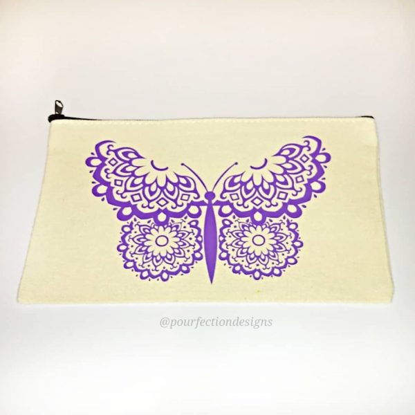 Beautiful Butterfly Zipper Pouch