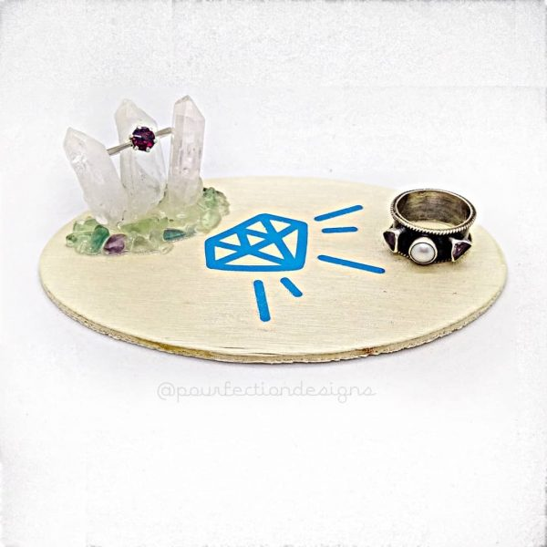 Diamond Decal Trinket Tray
