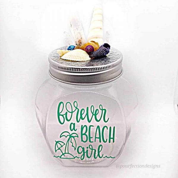 """Forever A Beach Girl"" Plastic Jar"