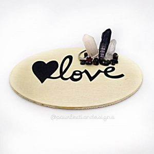 Love Decal Trinket Tray