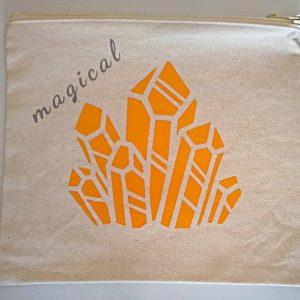 Magical Golden Crystal Zipper Bag
