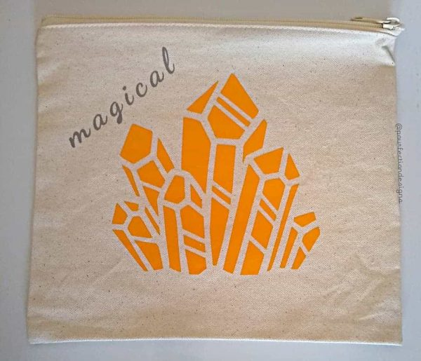 Magical Golden Crystal Zipper Bag