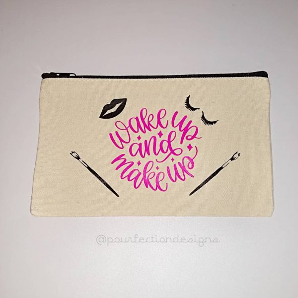 Wake Up And Make Up Zipper Bag