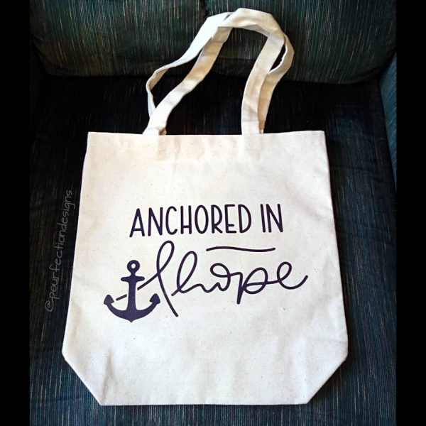 Anchored In Hope Canvas Bag