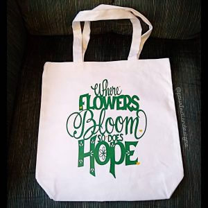 Flowers Bloom Hope Canvas Bag
