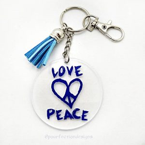 Love Peace Keychain