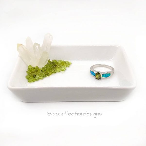 Quartz Peridot Trinket Tray