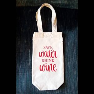 Water Wine Canvas Wine Tote