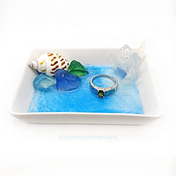 White Ceramic Ocean Trinket Tray