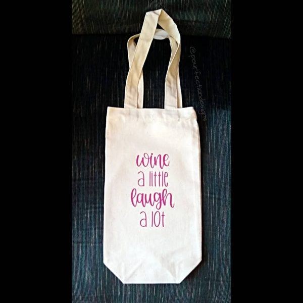 Wine Laugh Canvas Wine Tote