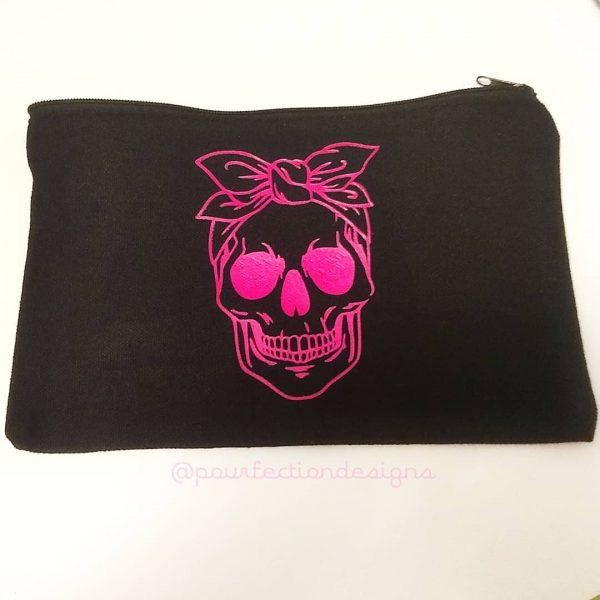 Canvas Bag Pink Skull