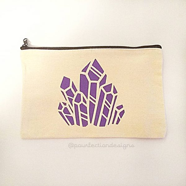 Canvas Bag Purple Diamond