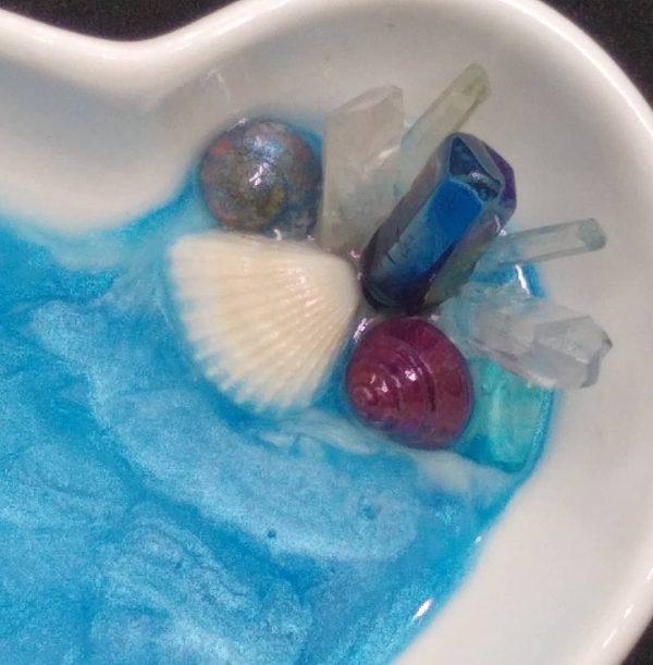 Beachy Heart Quartz Trinket Dish