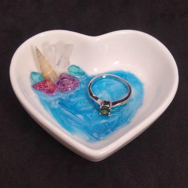 Beachy Heart Trinket Dish