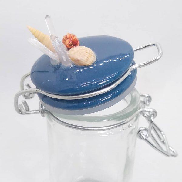 Glass Snap Top Beachy Jar