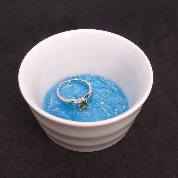 Ocean Themed White Ceramic Trinket Bowl