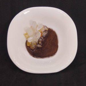 Quartz Point and Citrine Ceramic Trinket Dish
