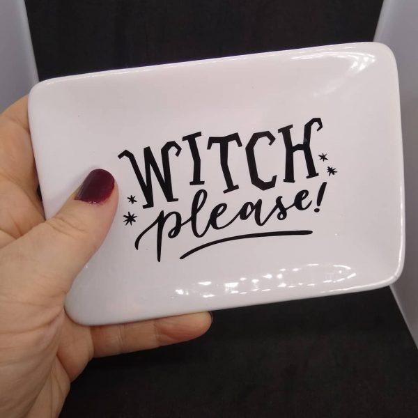 Witch Please White Ceramic Dish
