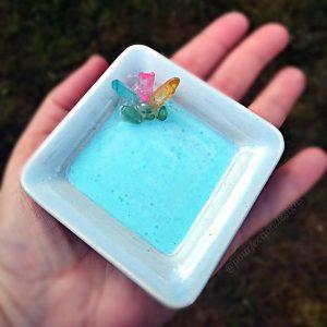 Beautiful Blue Trinket Tray with Aura Quartz