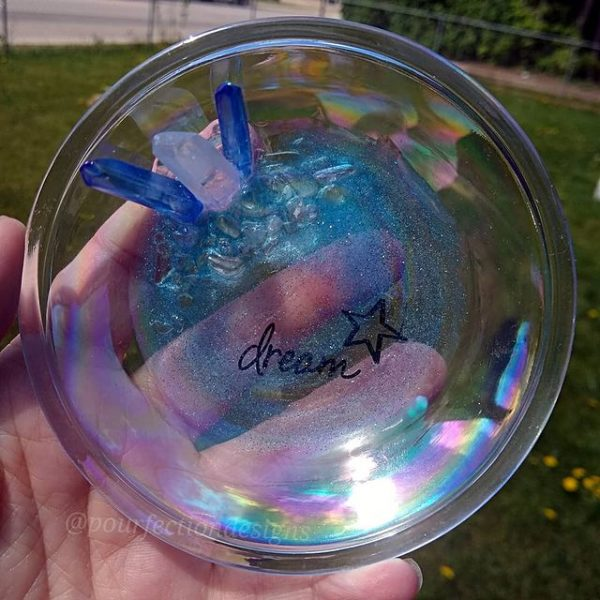 Iridescent Glass Trinket Dish