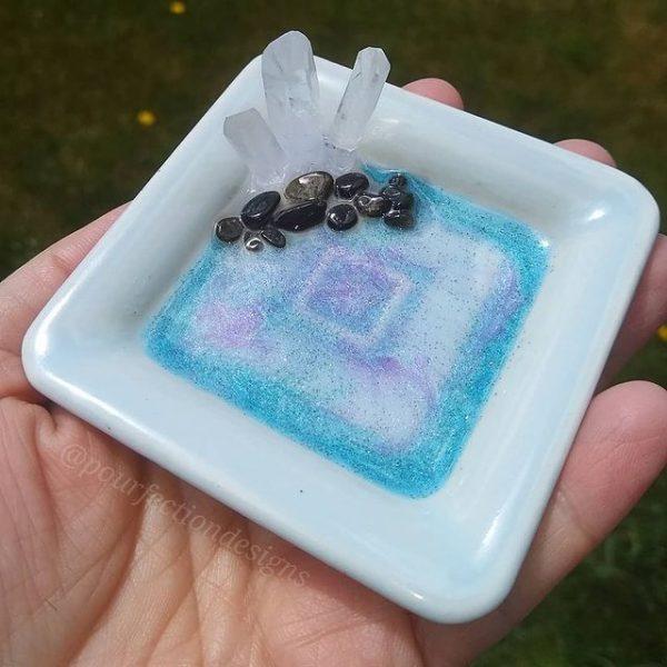 Light Blue Square Trinket Dish