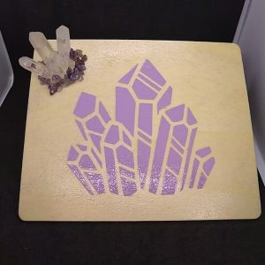 Purple Crystal Trinket Tray
