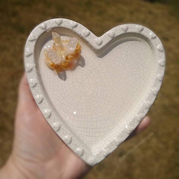 Unique Ceramic Heart Trinket Dish